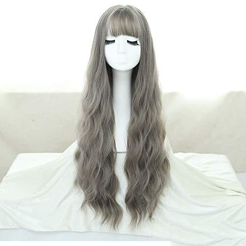 Perücke, Dame natürlichen Körper gewelltes Haar synthetische Farbverlauf langes lockiges Haar