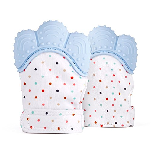 Liketo 2Pcs Baby Teething Mitten for Babies Self-Soothing Pain Relief and Teething Glove BPA FREE Safe Food Grade Teething Mitt 41MU Khr jL