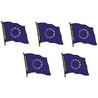 5er Pack Europa Flaggenpin Yantec Pin Flagge