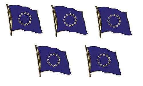 Preisvergleich Produktbild 5er Pack Europa Flaggenpin Yantec Pin Flagge