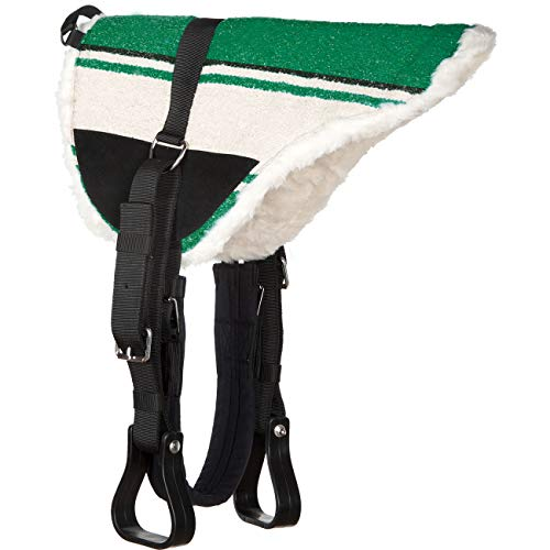 Heinick-Reitsport Reitkissen Reitpad Sattelkissen ~ Green ~ Shetty Pony Kleinpferd - Bareback Pad komplett