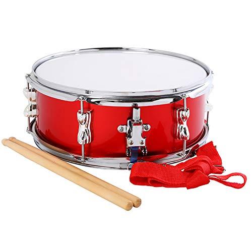 Große Rote Snaredrum,Ausgestattet Mit Riemen, Snare Drum 13 * 6 Zoll