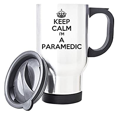 White KEEP CALM I'm a Paramedic Travel Mug