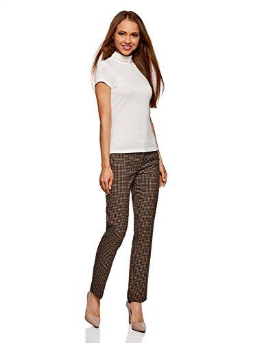 oodji Ultra Damen Hose Basic mit Gürtel Beige (3339C)