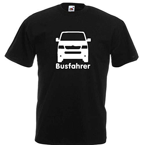 YOUR SHIRT Busfahrer T5 T-ShirtSchwarz/Druck Weiß bis Größe 5XL (XXL) -