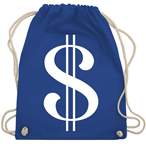 Karneval & Fasching - Dollar Kostüm weiß - Unisize - Royalblau - WM110 - Turnbeutel & Gym Bag