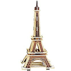 Creative Assemble Puzzle Toys Child Early Education Wooden 3 D Puzzle Building Eiffel Tower