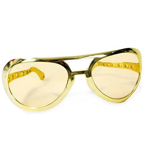 FASCHING 50141 Riesen-Brille Sonnenbrille gold NEU/OVP