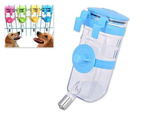 DSstyles 375ml Pet Flasche Wasser Dispenser Heimtierbedarf für Hund Katze Kaninchen Welpen - Blau (375 Kugel)