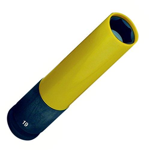 Proxxon 23974 Steckschlüsseleinsatz IMPACT, extralang zum Einsatz mit Druckluftschraubern, extreme Verschleißfestigkeit, 1/2 Zoll, Länge: 130 mm, Durchmesser 19 mm, Drehmoment: 500 Nm