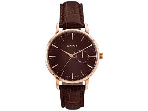 GANT W10925 - Reloj analógico de cuarzo para mujer, correa de cuero color marrón