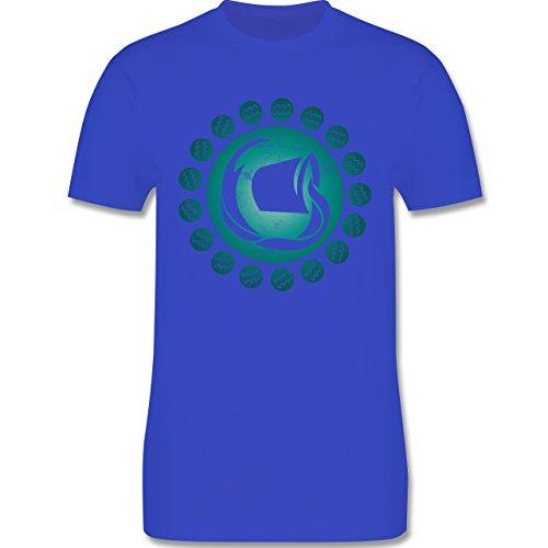 Shirtracer Symbole - Tierkreiszeichen Wassermann - Herren T-Shirt Rundhals Royalblau
