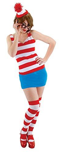 Crazy Dog Tshirts Damen Kostüm mehrfarbig mehrfarbig (Waldo Damen Kostüm)