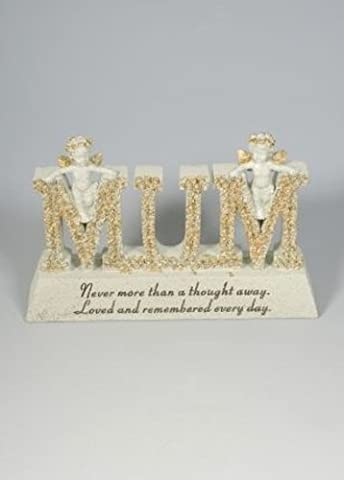 MUM Crème Or &&Cherub Greenkey Garden and Home Plaque commémorative