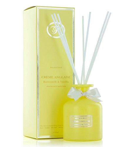 Fine Balm Melbourne Reed Diffusers 150ml (Creme Anglaise Buttermilk & Vanilla ) by The International Fine Fragrance Company