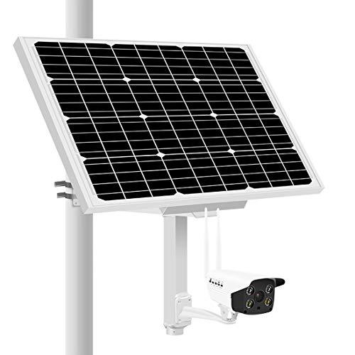 Solar IP Kamera Outdoor-4G Wireless Überwachungskamera mit Akku 1080P H.264 8mm Objektiv Wasserdicht Wireless Night Vision P2P Überwachung 80W Solar Panel (8mm Kugel-anschluss)