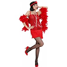 Costume da Charleston, Rosso, Taglia