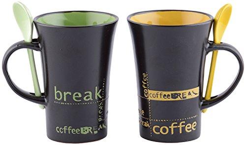 DRL Porcelain Coffee Mug (Set of 2, Assorted, 11 cm...