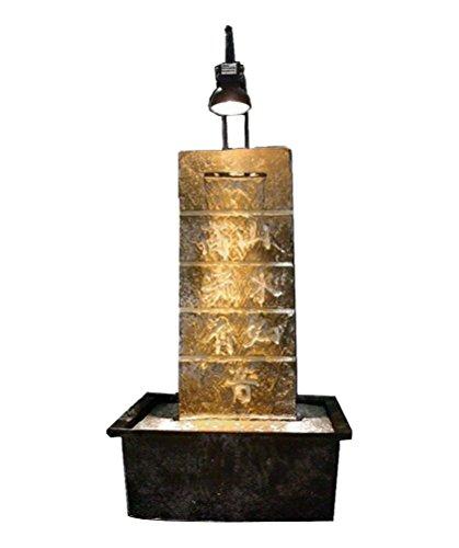 Zen luce interni amicizia fontana grigio/nero 21 x 15 x 35 cm