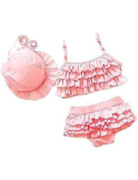 DELEY Bambine Costume da bagno 3pcs Bikini Set Increspature Costumi da bagno Costumi da bagno
