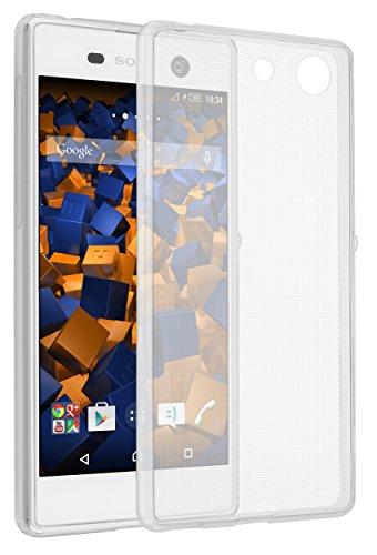 mumbi UltraSlim Hülle für Sony Xperia M5 Schutzhülle transparent (Ultra Slim - 0.55 mm)