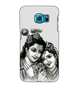 Fuson Designer Back Case Cover for Samsung Galaxy S6 Edge :: Samsung Galaxy S6 Edge G925 :: Samsung Galaxy S6 Edge G925I G9250 G925A G925F G925Fq G925K G925L G925S G925T (Radha Krishna kanhaiya basuri fluet)