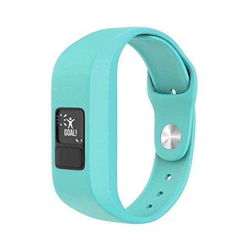BZLine® Für Garmin Vivofit Jr Uhr, Sport Weich Silikon Armband Ersatzband für Garmin Vívofit jr. 2, Wasserdichte Action Watch für Kinder (Minzgrün)