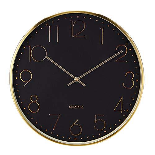 Orologio da parete decorativo classico orologio da parete rotondo orologio da parete in metallo - orologio da parete europeo - stile moderno nordico - muto - ufficio camera da letto soggiorno - ragazz