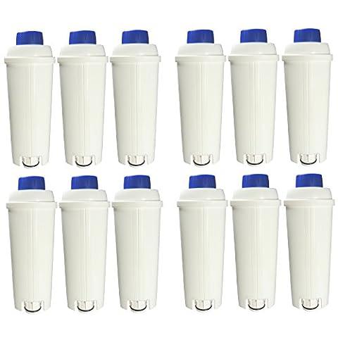 12er Pack DeLonghi Wasserfilter für Kaffemaschinen geeignet für ECAM, ESAM,