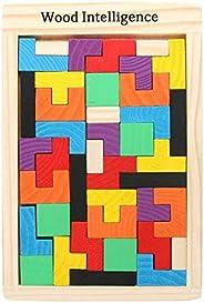 SUPERIMIO Tangram Tetris Jigsaw Puzzle Brain Games Gifts for Kids Boys Girls | 2 in 1 Brain Development Brain