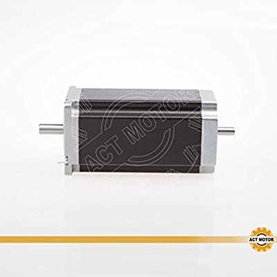 ACT Motor GmbH 1PC Nema 23 Schrittmotor 23HS2430B 112mm 3.0N.m, 3.0A, dual shaft shaft