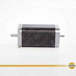 ACT Motor GmbH Nema23 1PC 23HS2430B 112mm 3A 2.8Nm Dual Round Shaft Ø 8mm Automation 3D-Printer Carver Machine Instrumen CNC Machine