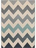 benuta Teppich Dessert Blau 160x230 cm | Moderner Teppich für Wohn- und Schlafzimmer