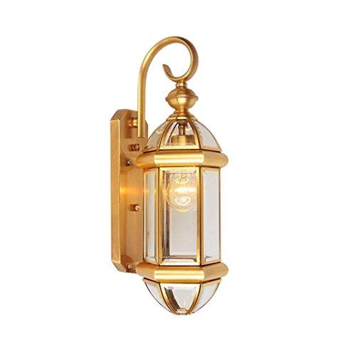 GBYZHMH Lampe de mur-mur exterieur Etanche lumière cuivre antique Single-Head Éclairage Couloir escalier couloir E27 LED Lampe Murale Bienvenue