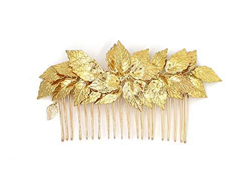 Göttin Blattgold Tiara Kamm - Bridal Hochzeit Haar Clip Haarband Mum Stirnband Kämme Griechisch - Athena Kostüm Haar
