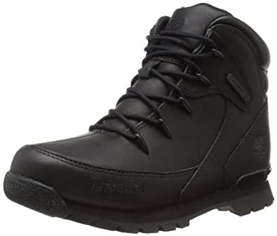Timberland Euro Rock Hiker, Boys' Boots, Black Out, 4 UK Child