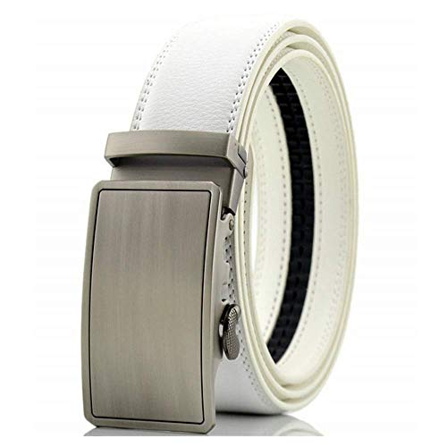 aoliaoyudonggha Mens Automatic Buckle White Male Leather Belt Designers Luxury Brand Belts (Bigfoot-tools)
