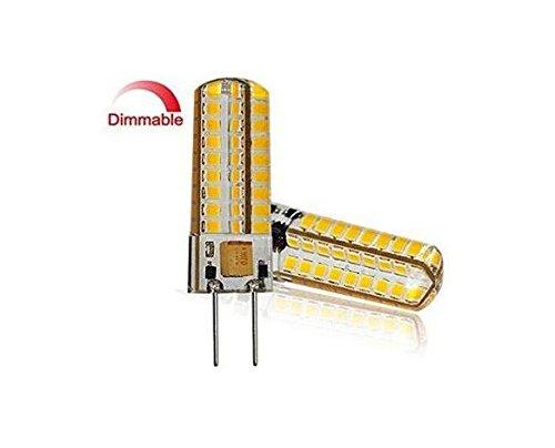 Best to buy®–Juego de 6G4LED 6.5W Blanco Cálido, 2700K, DIMM de bar 12V 24V AC/DC Voltaje de cambio con 72x 2835smds (Epistar) ~ 50–65W 330° patillas