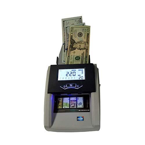 GLJY Macchina per Il conteggio dei Soldi con rilevatore di Denaro contraffatto e Facile da Leggere con contatore di Banconote Falso