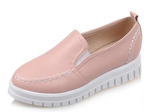 PBXP Loafers Krankenhaus Krankenschwester PU flache Schuhe Runde-toe Frauen Casual Hochzeit Büros Vintage Schuhe Europa Größe Customized Biger Größe 31-43 Pink