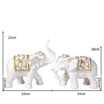 Vitrine décoration décoration création maison maison personnage européen artisanat Chambre de télévision salon , Clear Money Elephant (White)