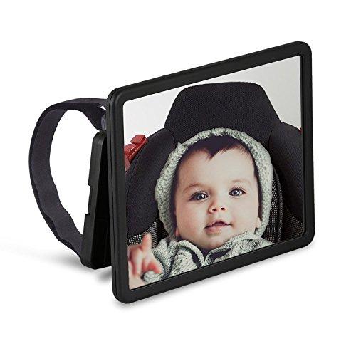 Wicked Chili Baby Rückspiegel, Rücksitzspiegel mit großem Sichtfeld für Babyschale, Kindersitz und Reboarder, Universeller Auto Babyspiegel (XL, Bruchsicher, Made in Germany)