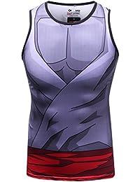 Cody Lundin hombres chaleco mezcla impresión película personaje logo camiseta hombre hombres sin mangas ...