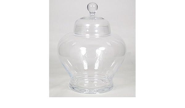 Set 2 x Barattolo alimenti in vetro LAURA /Ø29 cm trasparente Barattolo da cucina//Contenitore spezie imbuto//rotondo 33 cm