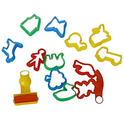 Ndier torta stampi colorati animali piante a forma di torta formine plastilina biscotti stampi strumento 14pcs/set