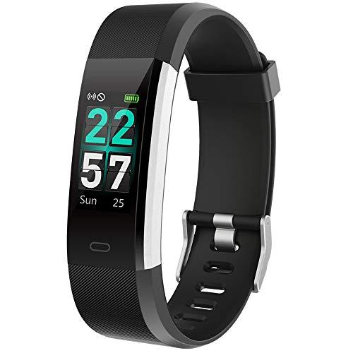 Yakuin Fitness Armband Tracker Aktivitätstracker Smartwatch mit Pulsmesser Wasserdicht IP68 Schrittzähler Uhr