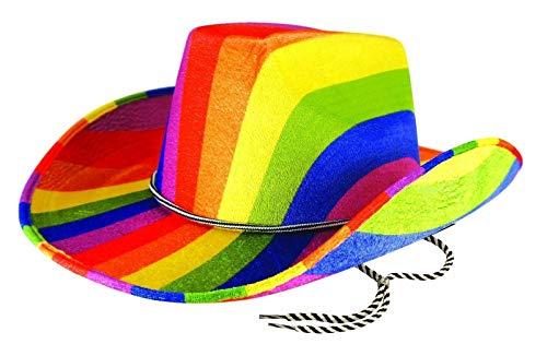 Islander Fashions Homosexuell Stolz Kost�m Zubeh�r Regenbogen H�te Flaggen LGBT Parade Party Zubeh�r (Rainbow Cowboy-Hut) - Flagge Hut