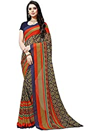 Anand Sarees georgette with blouse piece Saree (1499_ multicoloured_ one size)