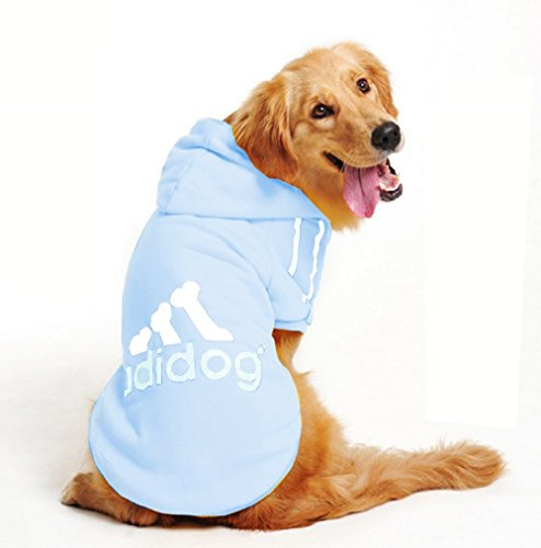 Inception Pro Infinite Kostüm - Verkleidung - Sweatshirt - Shirt - T-Shirt - hellblau - Kapuze - Adidog - Hund (XL)