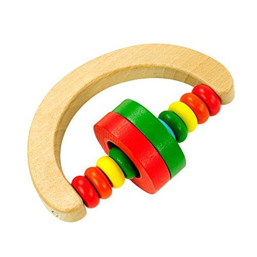 Preisvergleich Produktbild JWBOSS Rattle Handbell Hölzerne Glocke Pädagogisches Percussioninstrument Lustiges Musikspielzeug Für Baby-Kind